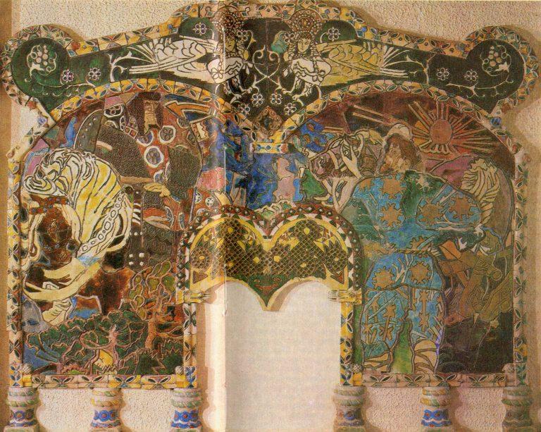 «Микула Селянинович и Вольга» камин. <br/>90-е годы 19 века
