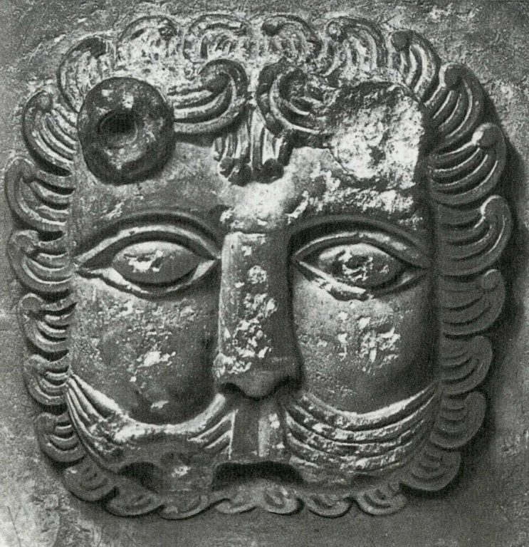 Lion mask. <br/>12th century
