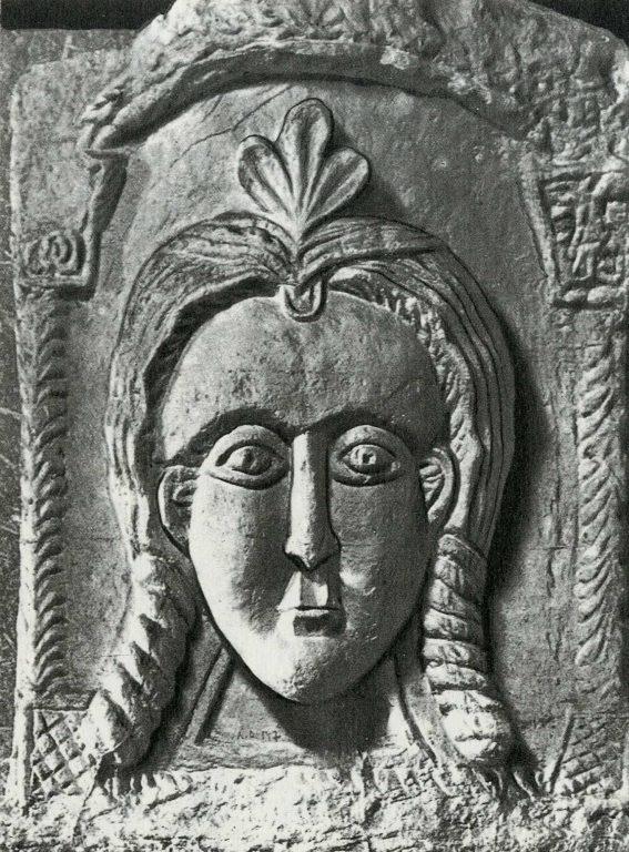 Женская маска. <br/>13 век