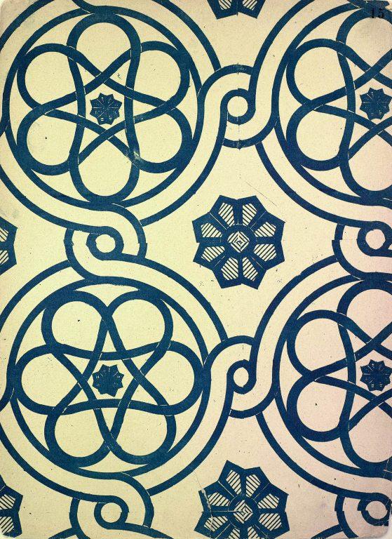 Образец узора мозаики, стенописи или рукописи из сборника С. Н. Писарева