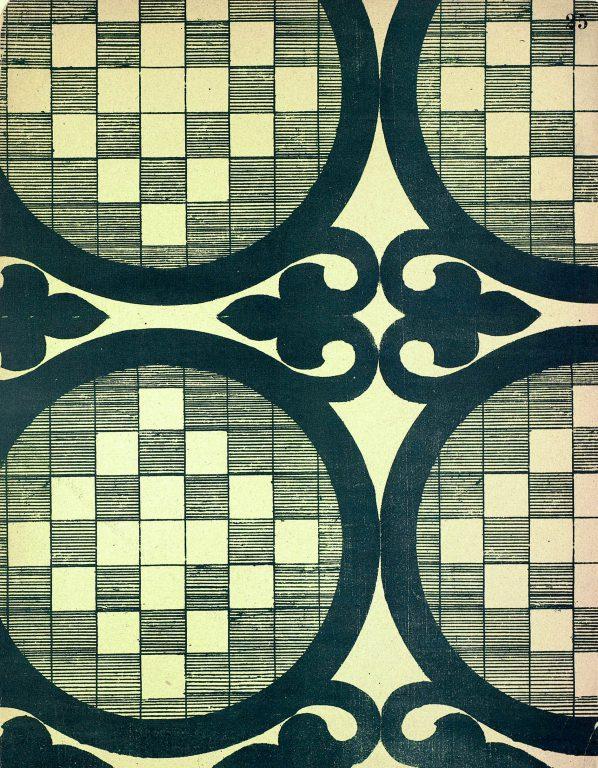 Образец узора мозаики, стенописи или рукописи из сборника С. Н. Писарева. <br/>11-12 век