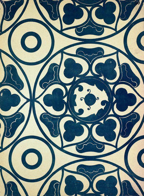 Образец узора рукописи, ткани или стенописи из сборника С. Н. Писарева. <br/>15-16 век