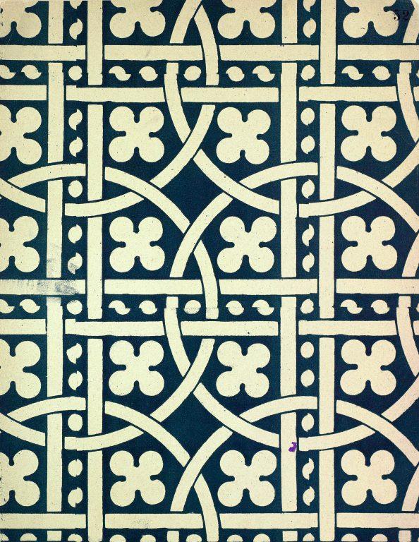 Образец узора рукописи, ткани или стенописи из сборника С.Н. Писарева. <br/>15-16 век