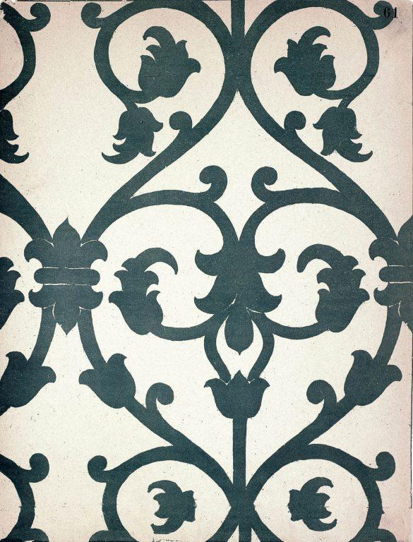 Образец узора рукописи, ткани или стенописи из сборника С. Н. Писарева. 15-16 век
