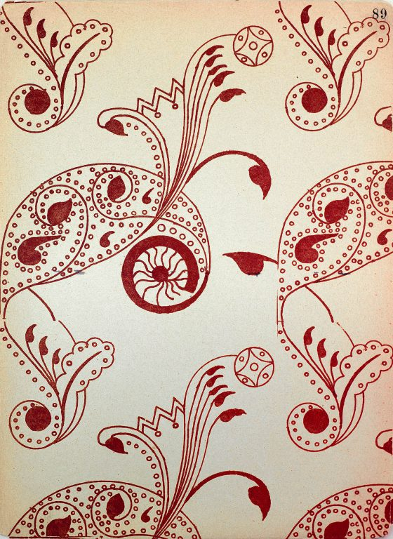 Образец узора рукописи, ткани или стенописи из сборника С. Н. Писарева