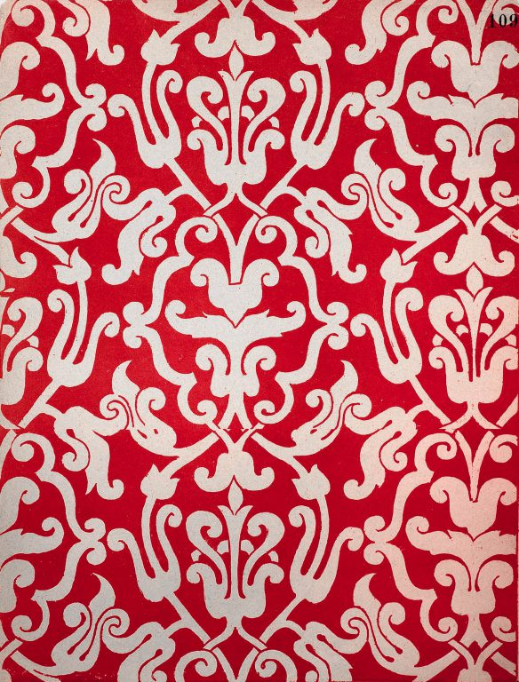 "Reconstruction of the pattern from S. Pisarev book ""Old Russian ornament"", published in 1903 year"