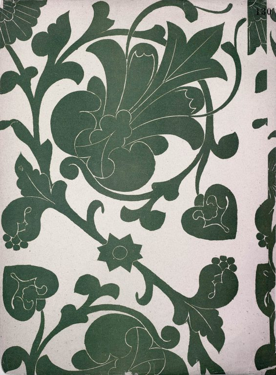 Образец узора рукописи, ткани или стенописи из сборника С. Н. Писарева. 17 век
