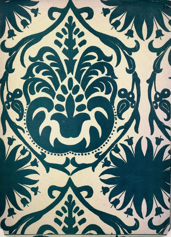 Sample of manuscript decoration, fabric pattern or mural painting from the collection of S. Pisarev. <br/>17th century