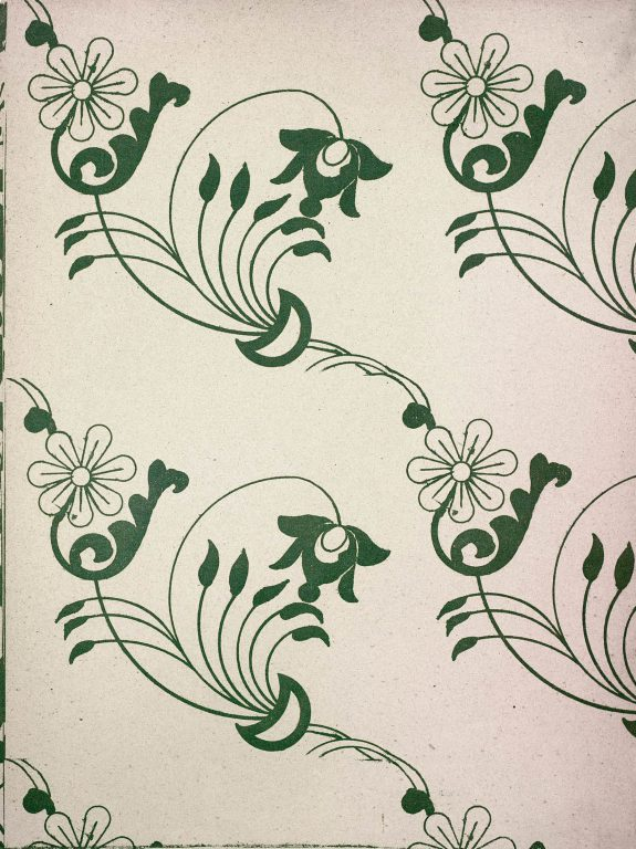 Образец узора рукописи, ткани или стенописи из сборника С.Н. Писарева. <br/>17 век