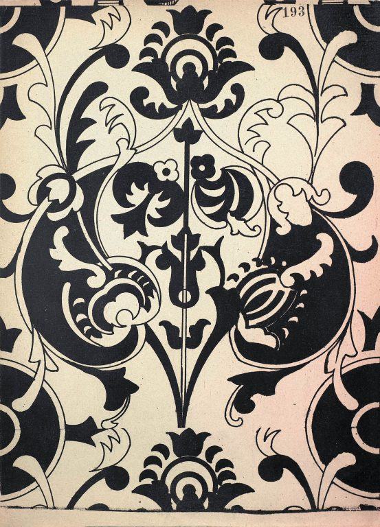 Sample of manuscript decoration, fabric pattern or mural painting from the collection of S. Pisarev. 17th century