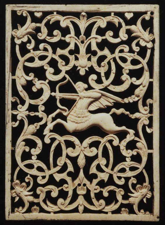 Openwork morse ivory panel . <br/>Late 17th or early 18th century