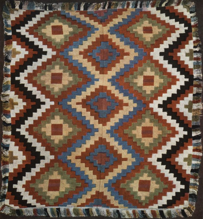 Wool sledge rug . <br/>Mid-19th century