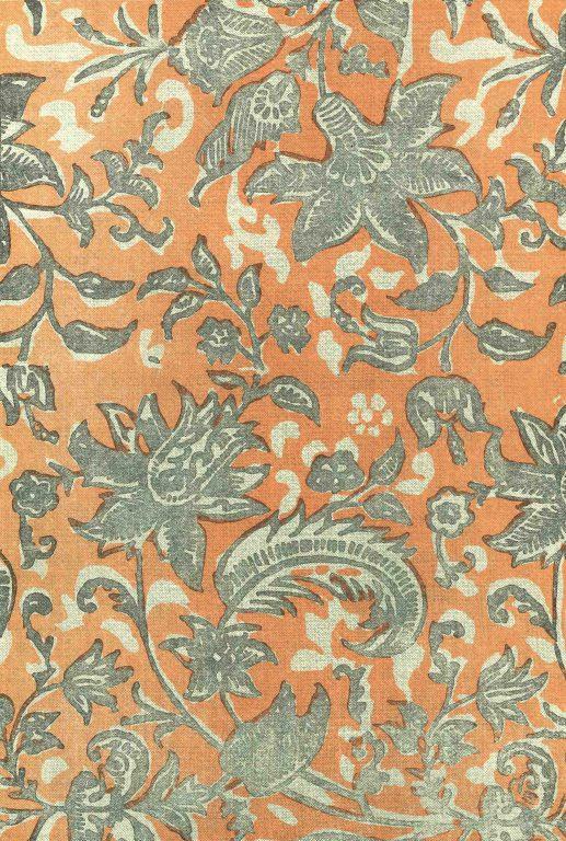 Набивная ткань. <br/>Конец 17 века  - начало 18 века
