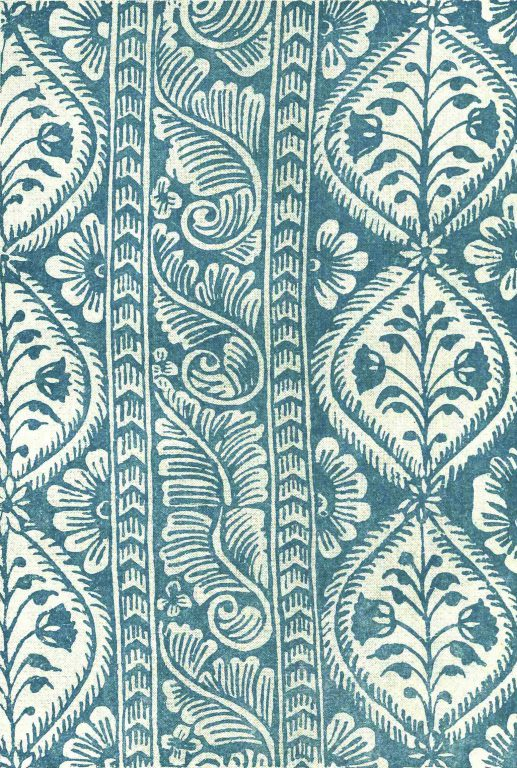 Printed cloth. <br/>17th century