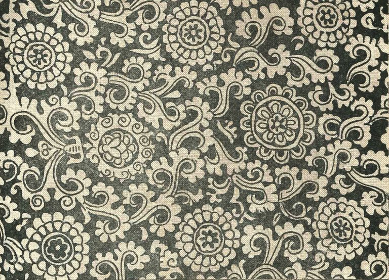 Набивная ткань. <br/>Конец 16 века  - начало 17 века