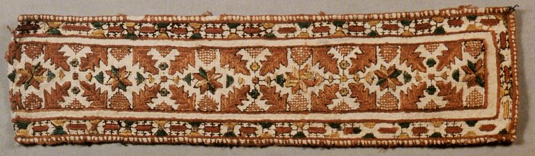 Embroidery sample. <br/>Second half of 19th century