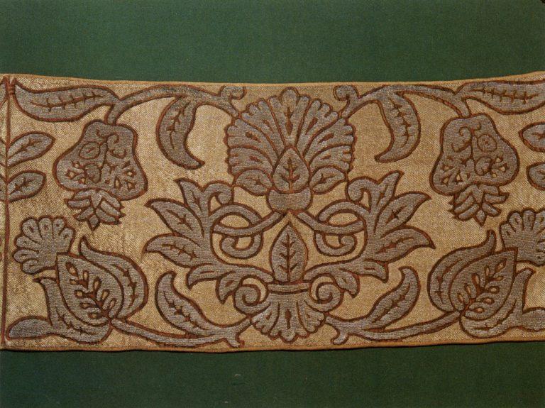 Образец золотного шитья. <br/>Вторая половина 17 века