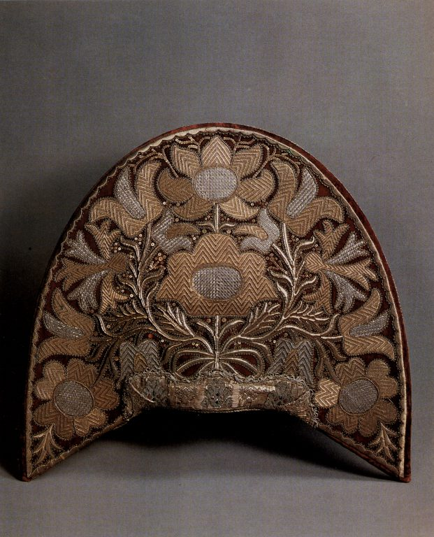 Женский головной убор - кокошник (тыльная сторона). <br/>Вторая половина 18 века