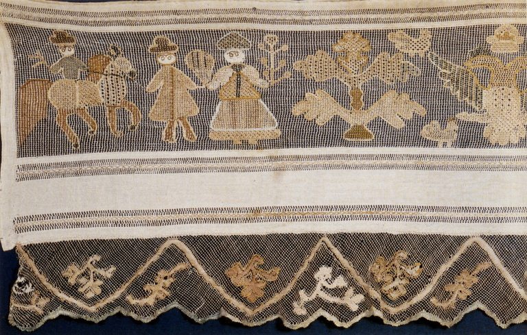 Podzor (lace edging). Fragment. <br/>Late 18th century - early 19th century