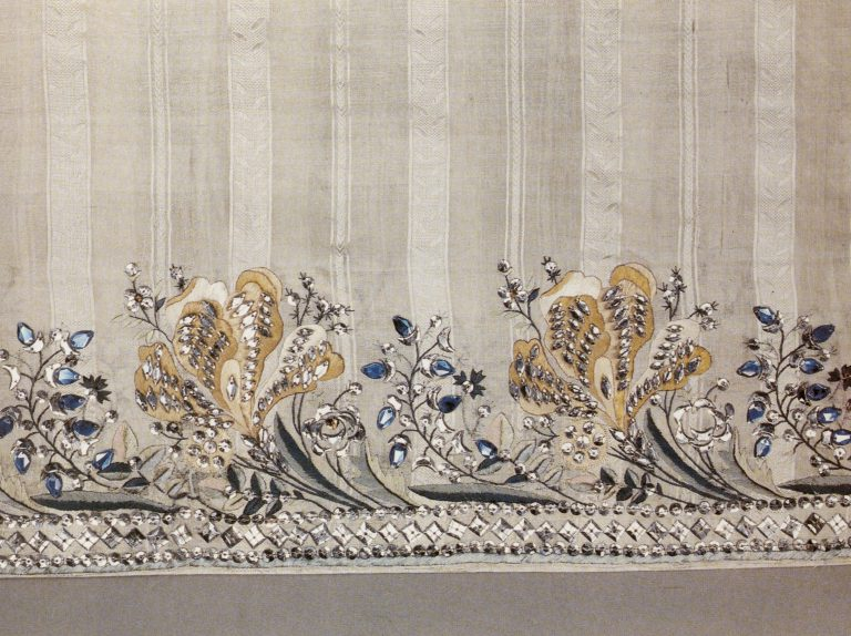 Ball dress hem. Fragment. <br/>Last quarter of 18th century