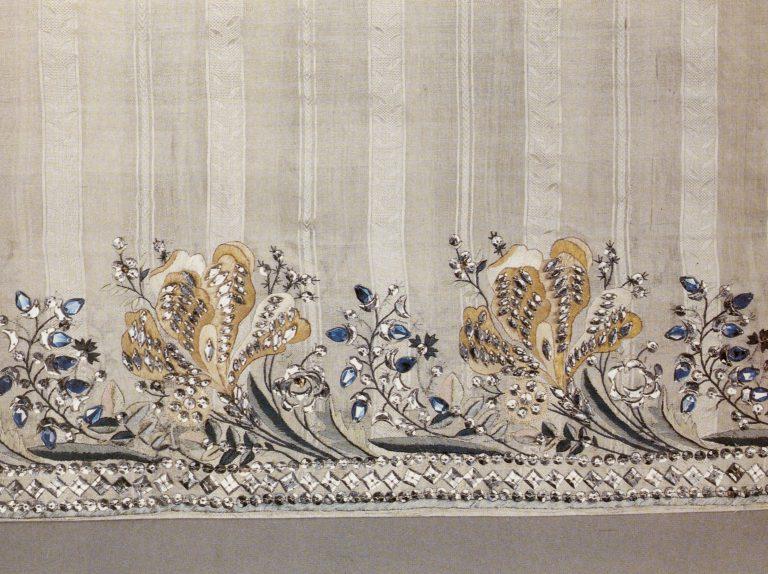 Подол бального платья. Фрагмент. Последняя четверть 18 века