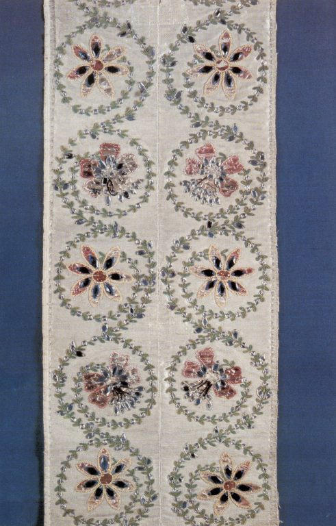Embroidery. Fragment. <br/>Last quarter of 18th century