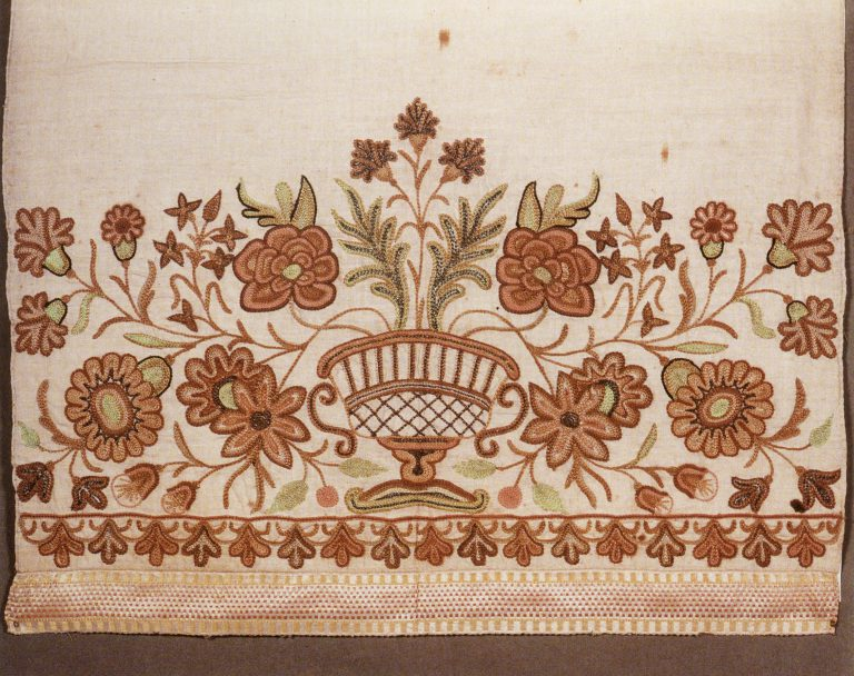 Towel edge. <br/>Late 18th century - early 19th century