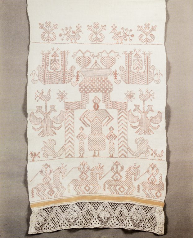 Towel edge. <br/>Mid-19th century