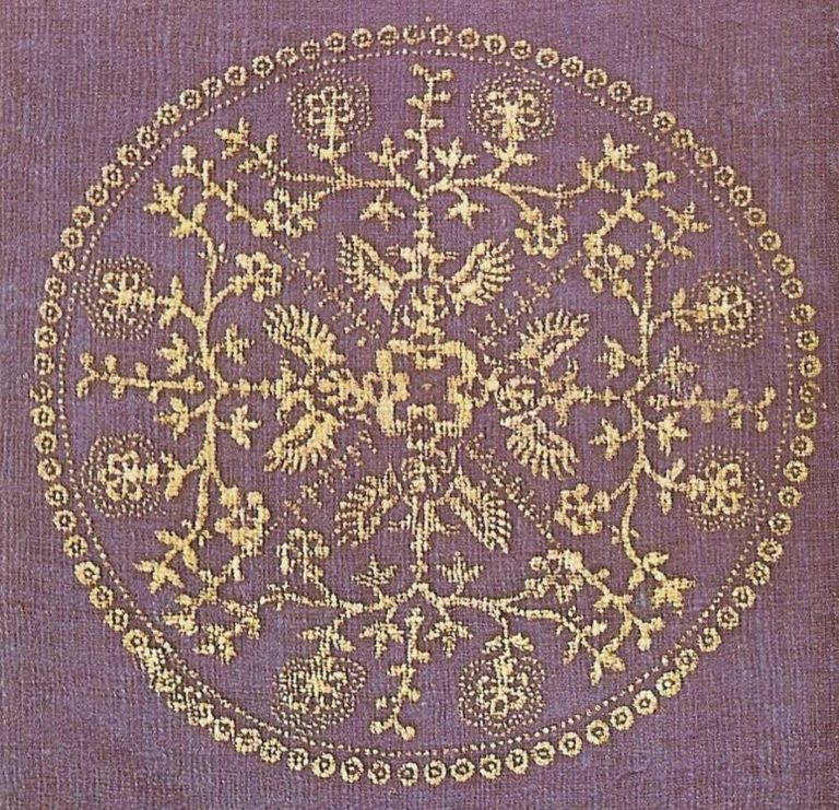 Fabric sample . <br/>19th century