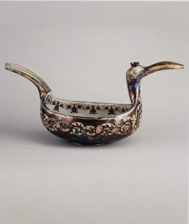 Kovsh in a shape of a duck. <br/>Late 19th century