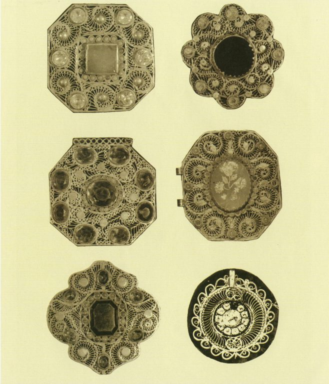 Metal plates for hasite (cross-belt) and izu (chestplate). <br/>Mid-19th century