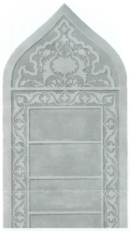 Узор на лицевой стороне надгробия. <br/>Первая половина 16 века