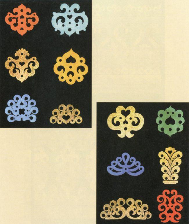 Образцы узоров на полотенцах и стойках ворот. Конец 19 века - начало 20 века