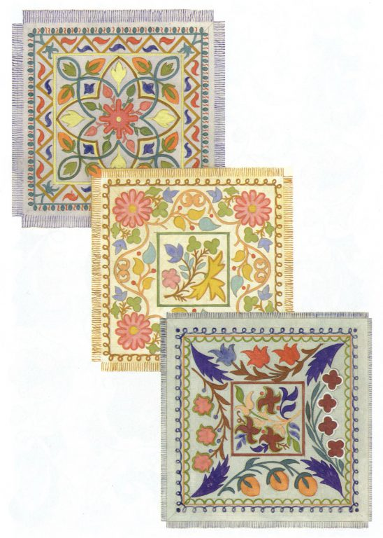 Emboidered napkins . Second half of 19th century