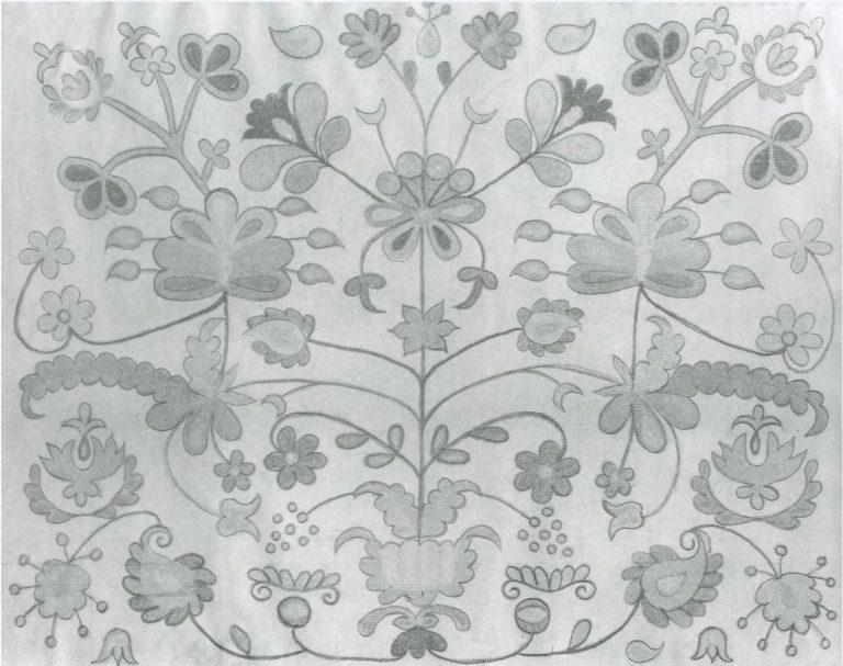 Towel edge. <br/>Mid-19th century