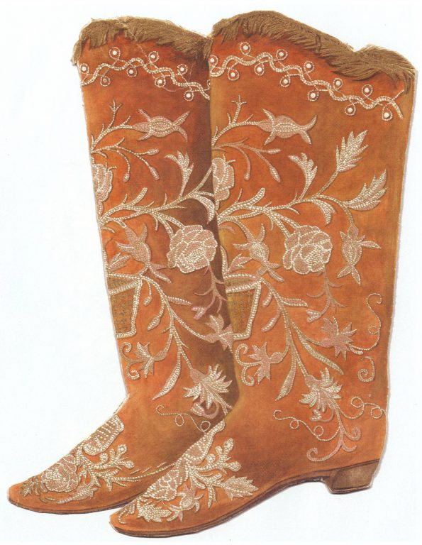 Embroidered boots. Late 18th century - first half of 19th century