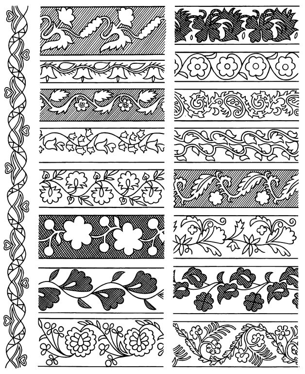 Ribbon embroidery pattern. <br/>Second half of 19th century