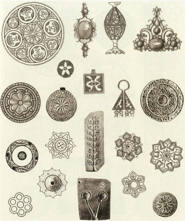 Ornament in jewelry. Molds for jewelry casting . <br/>10th century - 14th century