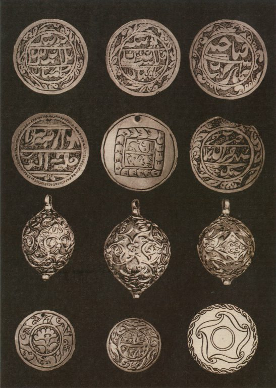 Jewelry (plaques and buttons). <br/>18th century - 19th century