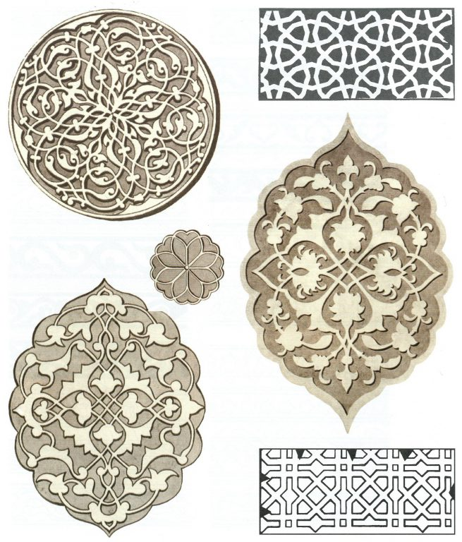 Carved ornaments of architectural details and gravestones. <br/>First half of 16th century