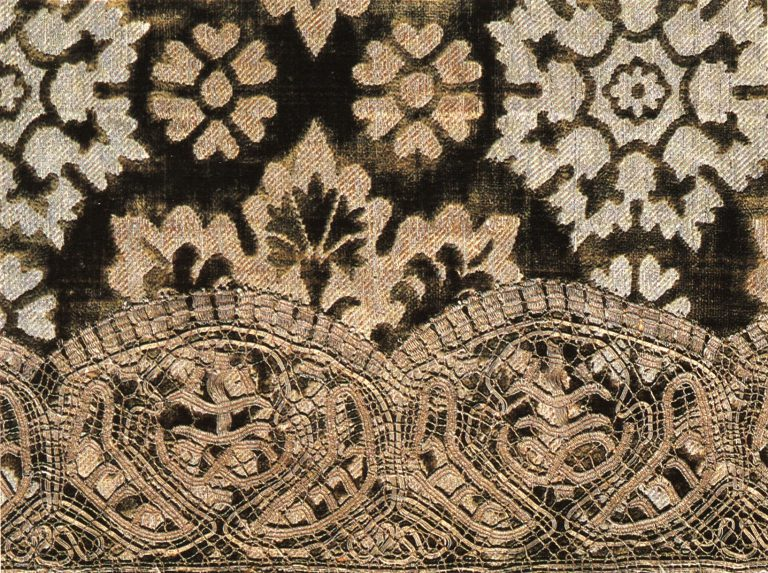 Nabedrennik (priest vestment). Fragment. <br/>Third quarter of 17th century