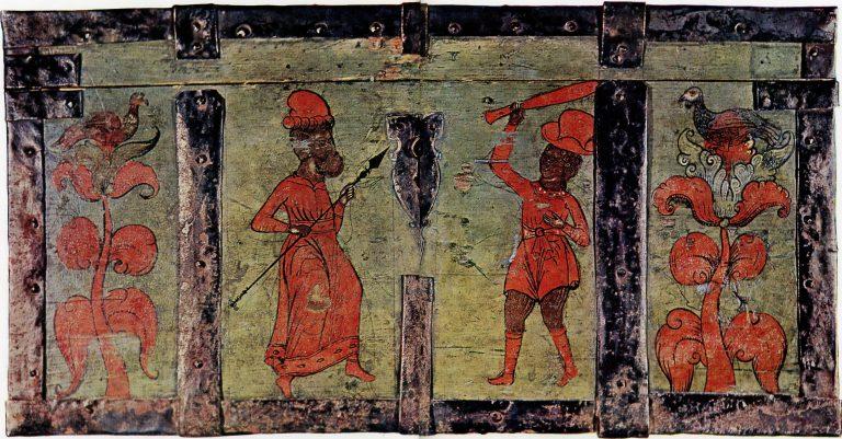Роспись передней стенки сундука. <br/>1-я половина 18 века