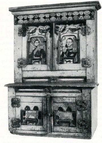 Роспись дверцы шкафа. <br/>1830-е года