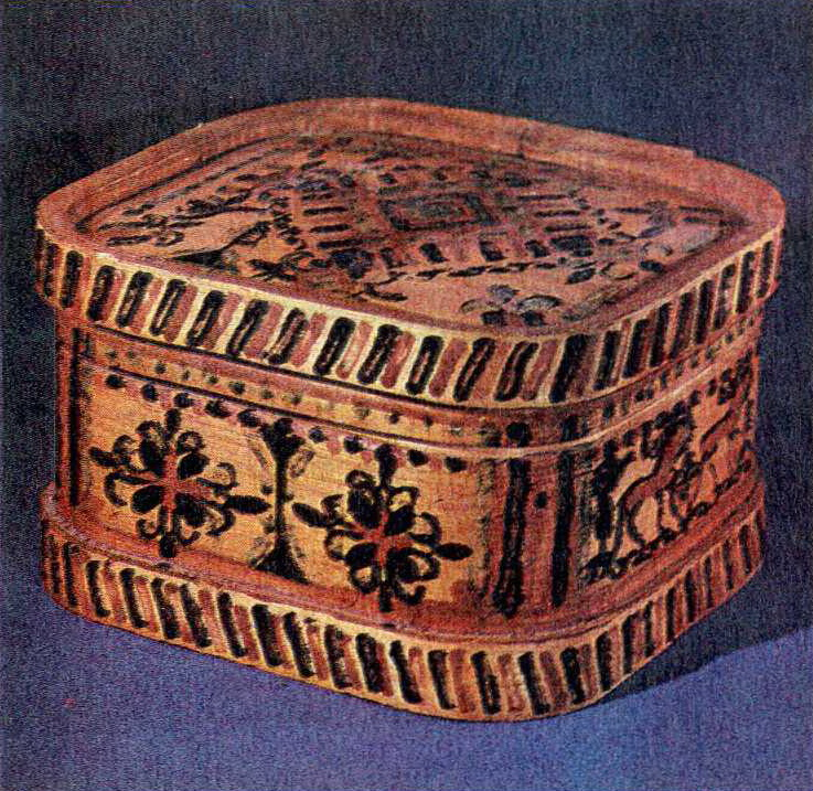 Korobeyka  (bast box). <br/>17th - early 18th century