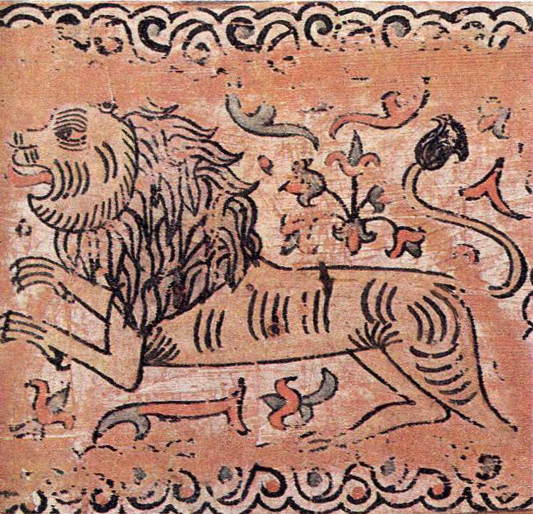 The king of beasts. Box painting. <br/>17th century