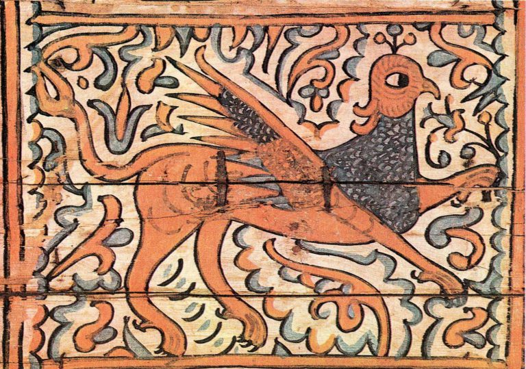 Griffin. Box painting. <br/>17th century