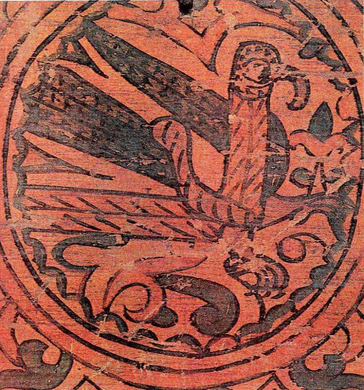 Стратим-птица - владычица океана. Роспись коробьи. <br/>17 век