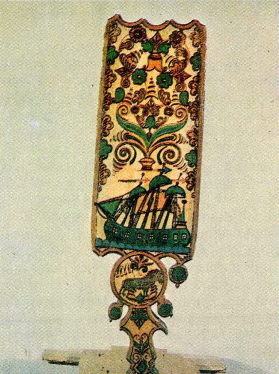 Painted distaff. 2nd half of the 18th century