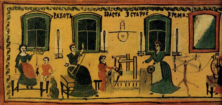 That's how the canvases were spun and weaved.. <br/>Early 20th century