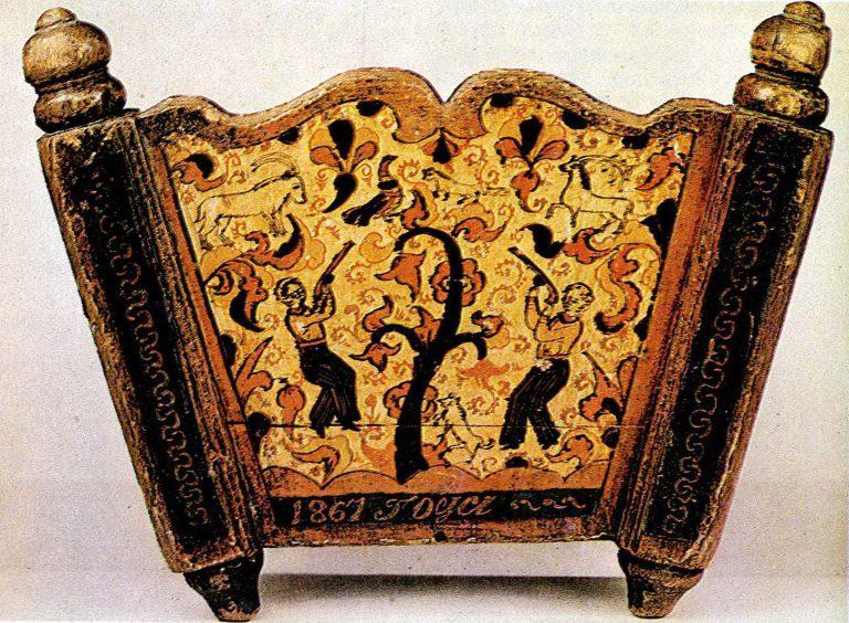 Охота на тетерева. Часть росписи кобылели. <br/>1867 год